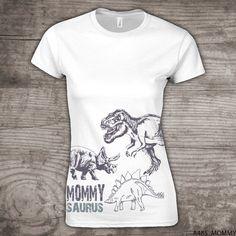 Mommysaurus Dinosaur shirt t-rex theme birthday by StoykoTs
