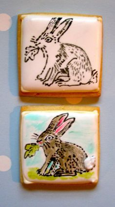 How to Rubber stamp on iced cookies.  or use edible airbrush ink.