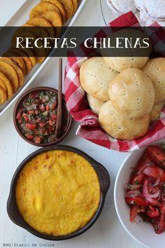 Cocina Chilena Chilean Recipes, Chilean Food, Comida Latina, Latin Food, Diy Food, Cornbread, Cooking Recipes, Tasty, Meals