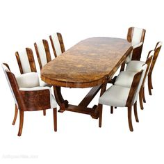 Art Deco Dining Set from Hille for Shop with global insured delivery at Pamono. Art Deco Decor, Art Deco Design, Antique Dining Tables, Dining Set, Table And Chairs, End Tables, Dining Suites, Art Nouveau, Art Deco Furniture