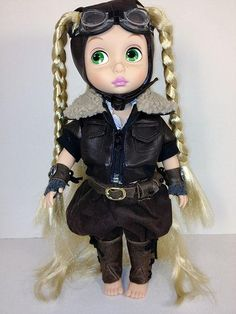 "Steampunk Aviator Rapunzel - re-dressed Disney Animators' Collection 16"" Doll"
