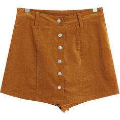 Chicnova Fashion Thanksgiving Solid Straight Shorts ($22) ❤ liked on Polyvore featuring shorts, bottoms, pants and corduroy shorts