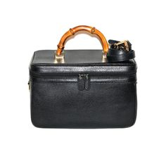 Vintage GUCCI Train Case Black Pebbled Leather by StatedStyle, $425.00