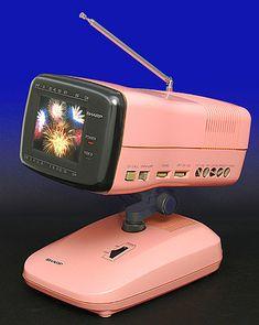 Collectible vintage tv television: Sharp 3LS36(P) Japan, Electronics, Okinawa Japan, Japanese Dishes, Consumer Electronics