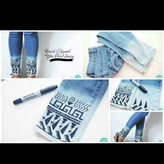 how to organize your boring jeans