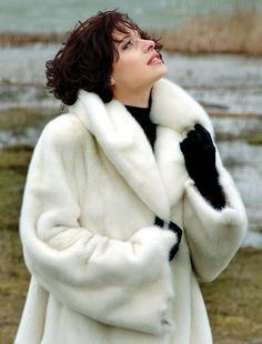 White Mink Coat takes the chill out of any winter bride