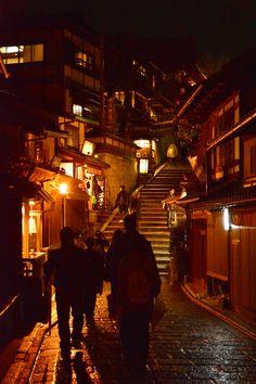 Asia, Orange, Silhouette, Stairs, Lights