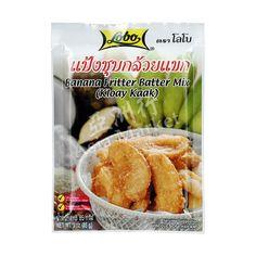 Buy Lobo Banana Fritter Thai Batter Mix online from Asia Market. Make delicious traditional Thai snacks called 'Kloay Kaak' using this mix. Banana Fritters, Batter Mix, Snack Recipes, Snacks, Banana Slice, Thai Style, Sweet Potato, Fries, Potatoes