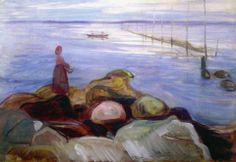 Edvard Munch, Mujer junto al mar en Åsgårdstrand, 1898