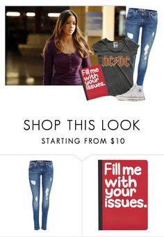 """Laying in bed, drawing //Skye"" by misscreepyashell ❤ liked on Polyvore featuring Pier 1 Imports and Converse"