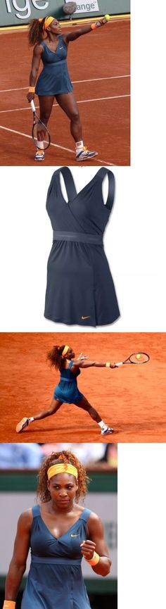 Skirts Skorts and Dresses 70901: Nwt Women Nike Serena Williams French Slate Blue Tennis Dress Sz Large Shelf Bra -> BUY IT NOW ONLY: $79.99 on eBay!