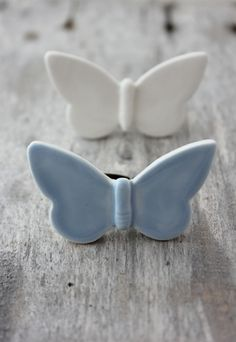 Ceramic Butterfly Ring Blue by Septembre Ceramics