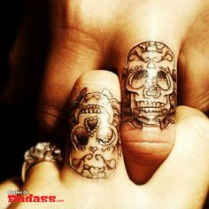 couple tattoos, even though these are fake still cool idea and design