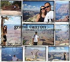 grand canyon scrapbook layouts | grand canyon by Iggydodie | Scrapbooking - Travel | Pinterest