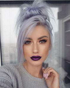 Winter Hairstyles, Pretty Hairstyles, Grey Hairstyle, Scene Hairstyles, Fashion Hairstyles, Hairstyles 2018, Weave Hairstyles, Hairstyle Ideas, Wedding Hairstyles