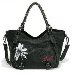 Desigual Bols Mini Rotterdam Black Daisy Negro Rotterdam, Daisy, Mini, Accessories, Fashion, Bowls, Handbags, Moda, Fashion Styles