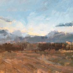 Paul Fowler @PaulFowlerArt Jul 1 Daily painting no.182 'Hop Field' Acrylic on board