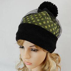 b191bc1b9a0 Winter beanie women Fashion beanie hat with tulle Pom pom Beanie Hats For  Women
