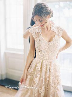 Lace+Wedding+Dress/Sleeveless+Wedding+Dress/+by+AngelinaWedding,+$219.00
