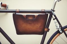 Berluti and Victoire Cycles Create a Beautiful Bike With Leather Accessories Bicycle Accessories, Leather Accessories, Bike Leathers, Velo Vintage, Bike Bag, Bicycle Maintenance, Bike Style, Bicycle Design, Frame Bag