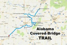 Alabama is home to many covered bridges. This covered bridge trail will lead you to nine of Alabama's most historic and beautiful covered bridges. Honeymoon Places, Vacation Places, Places To Travel, Places To Go, Vacations, Camping Places, Vacation Ideas, Weekend Trips, Day Trips