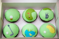 Chocolate Golf cupcakes for my golfer!