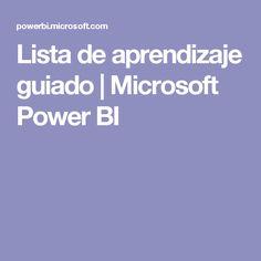 Lista de aprendizaje guiado | Microsoft Power BI