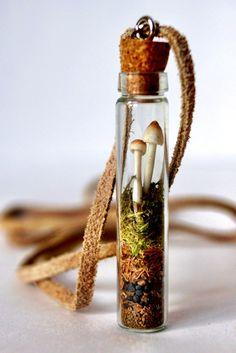 Woodland Mushroom Terrarium Necklace
