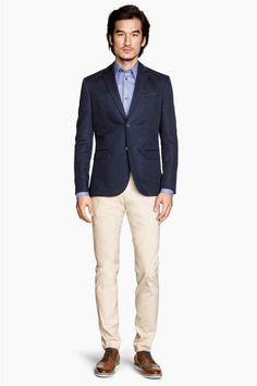 Pantaloni din twill Slim fit | H&M