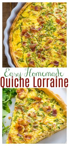 If you love Quiche Lorraine you have to try this homemade version! So flavorful and perfect for brunch or dinner! #quiche #quichelorraine #quicherecipes #brunch #breakfast #Christmasbrunch #Christmasbreakfast #Christmasrecipes #Christmas #eggs