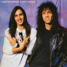 Nuno Bettencourt and Gary Cherone. Nuno Bettencourt, Gary Cherone, Beautiful Men, Beautiful People, 80s Hair Metal, Boys Are Stupid, Glam Metal, Latest Albums, Van Halen