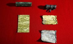 Gold rolls found by treasure hunting metal detectorist in Serbia