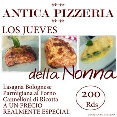 Asi se llama nuestra nueva Oferta culinaria de los Jueves !!! Te esperamos :)