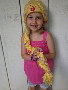 Rapunzel Hat by CreateAllCrochet on Etsy https://www.etsy.com/listing/245385156/rapunzel-hat