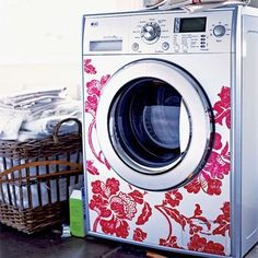 decorate your washer and dryer with vinyl decals to brighten up your laundry room…. decorate your washer and dryer with vinyl decals to brighten up your laundry room…. Vinyl Decals, Wall Decals, Wall Vinyl, Wall Stickers, Diy Inspiration, Silhouette Projects, Silhouette Cameo, House Silhouette, Silhouette Machine