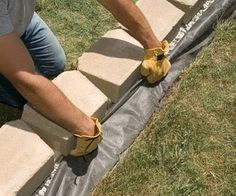 Build a strong, stylish retaining wall without mortar. We'll show you how.