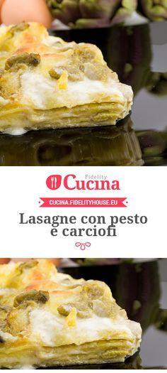 Lasagne con pesto e carciofi