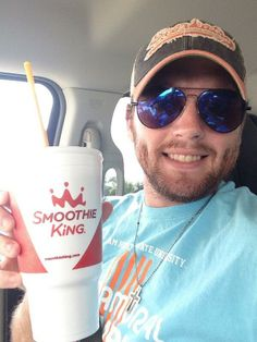 One of the members of the Jack Nelson Band from Texas totally enjoys our smoothies - one of our great Smoothie Fans!
