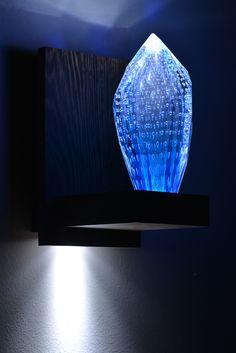 Blue new leisure - #khidr by #andromedamurano #glass #chandelier #interior #interiordesign #architecture