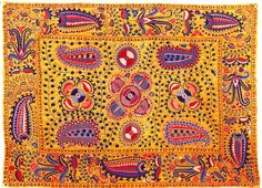 Embroidery of Lakai people - Uzbekistan, mid-19th century - The Textile Blog: Uzbek Embroidery