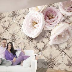 Fototapeta - Romantic beige 200x140 cm
