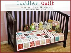 Convertible Crib QuiltTutorial on the Moda Bake Shop. http://www.modabakeshop.com