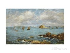 Bay of Douarnenez Prints by Eugene		 Boudin at AllPosters.com
