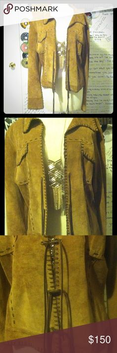 Spotted while shopping on Poshmark: bebe Suede Tan Leather Jacket! #poshmark…