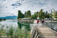 Stock-Foto : Poets Bridge at Lake Ohrid, Struga, Macedonia