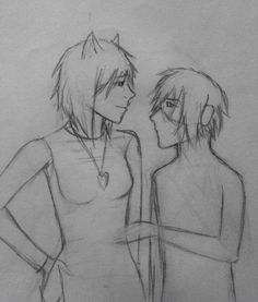 Old unfinished drawing, Emiko and Erwin