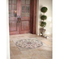Tumbled Stone Medallion Decorative Floor And