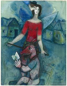 Marc Chagall, 1887-1985 The Angel and the Reader, c. 1930