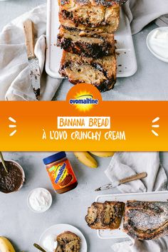 Recette: Banana Bread à l'Ovo Crunchy Cream Oreo, Breakfast Recipes, Dessert Recipes, Good Food, Yummy Food, Sweets Cake, Recipes From Heaven, How Sweet Eats, Chocolate Desserts