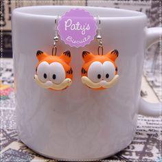 Par de brincos de anzol Garfield - Mini Cult
